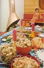What a lovely multi colored buffet I created!